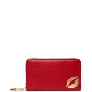 Lulu Guinness Grainy Leather Continental Wallet - Red