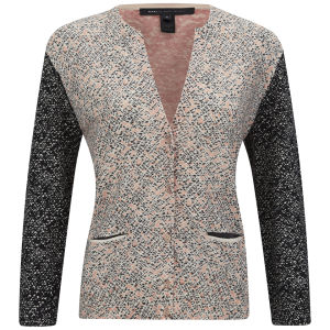 Marc by Marc Jacobs Women's Slash Tweed Printed Knit Cardigan - Multi Print