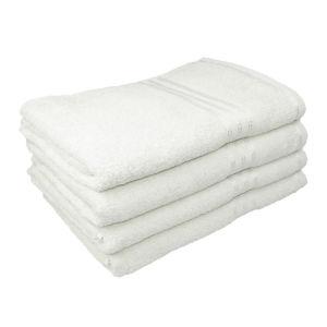 Restmor 100% Ägyptische Baumwolle 4 Stück Badetücher - Weiß