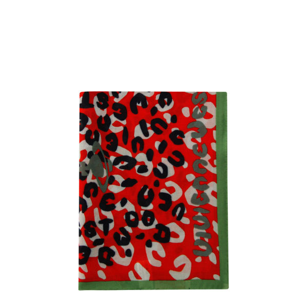 Vivienne Westwood - Accessories Women's New Leopard Scarf - Red