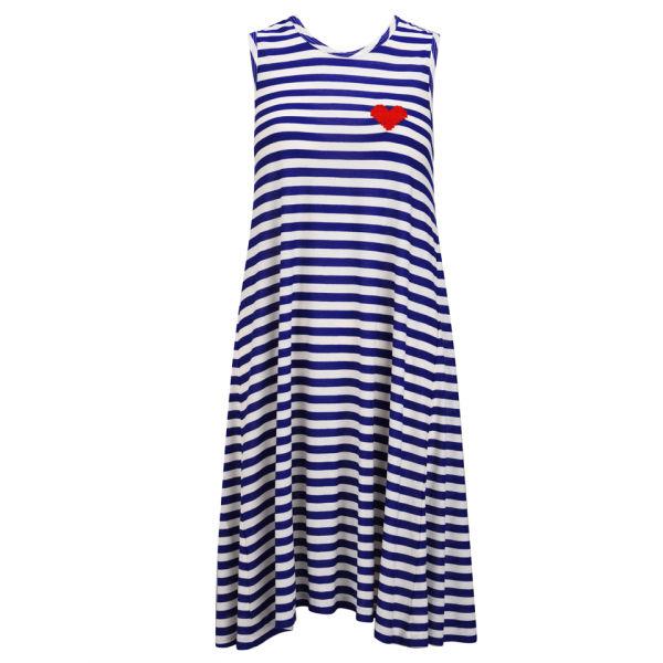 Sonia by Sonia Rykiel Women's Stripe Maxi Jersey Dress - Blue/White