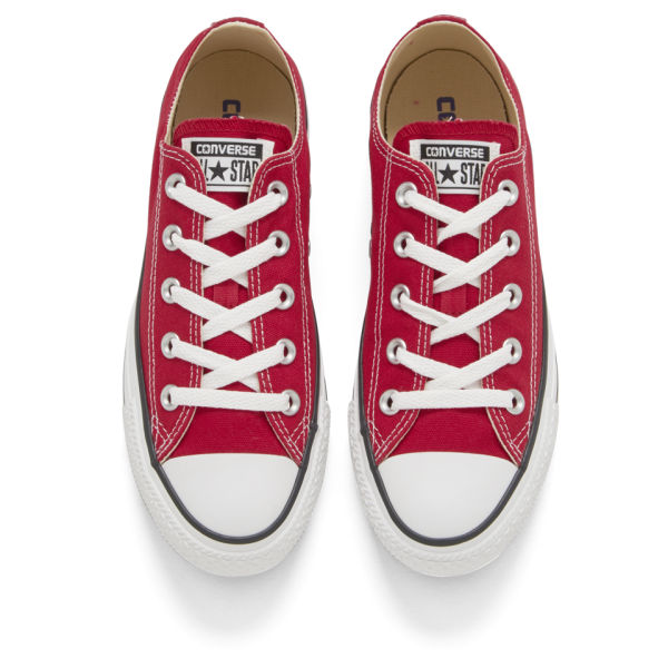 Converse Unisex Chuck Taylor All Star OX Canvas Trainers - Red.