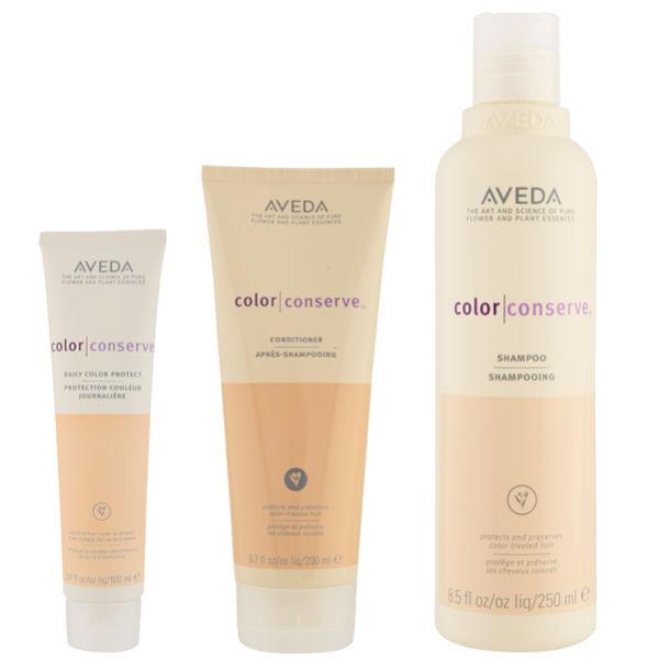 Aveda Colour Conserve Trio- Shampoo, Conditioner & Daily Colour Protect