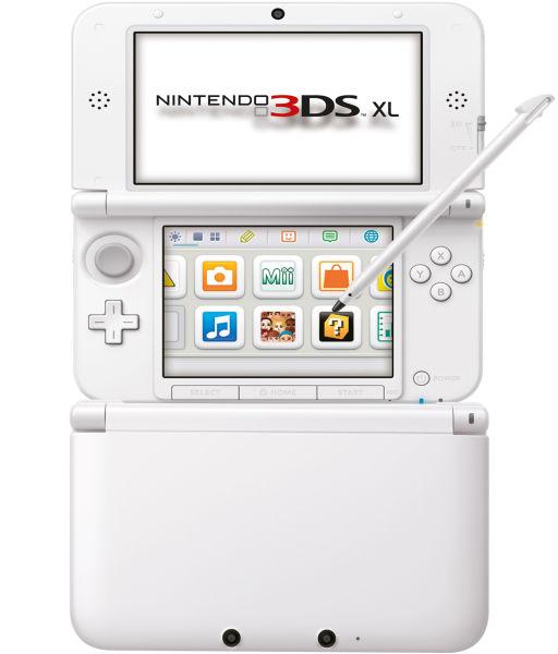 nintendo 3ds xl console white games consoles. Black Bedroom Furniture Sets. Home Design Ideas