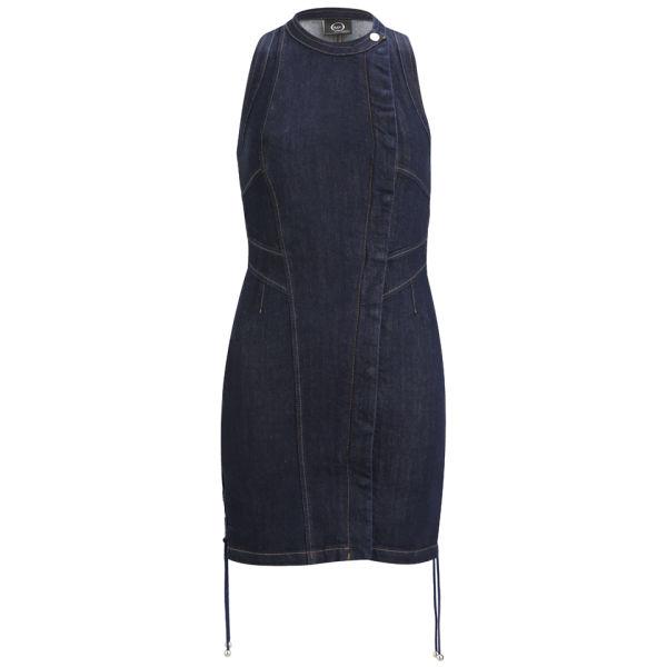 McQ Alexander McQueen Women's Lace Up Dress - Denim