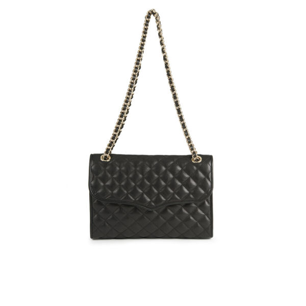 Rebecca Minkoff Quilted Affair Chain Strap Leather Cross Body Bag - Black