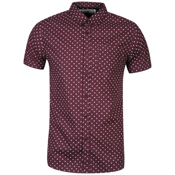 Brave Soul Men 39 S Gallagherc Short Sleeve Polka Dot Shirt