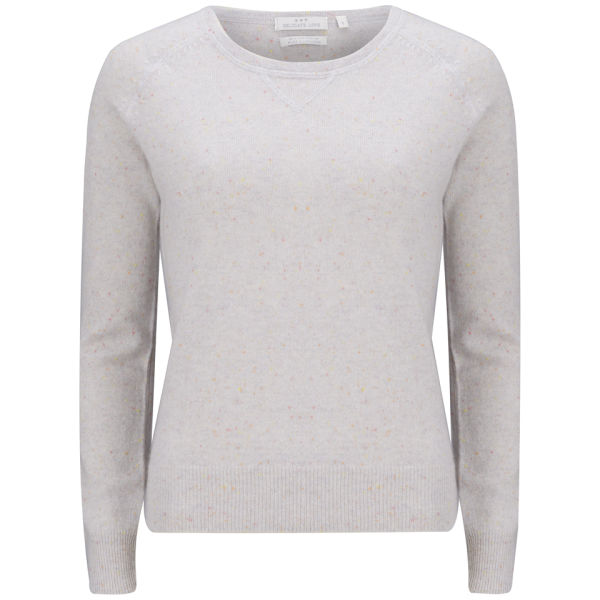 Delicate Love Women's Cristy Cashmere Baseball Jumper - Grey