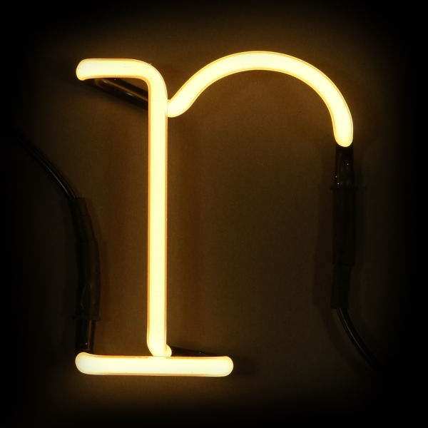 Seletti neon letter r iwoot for Large neon letters