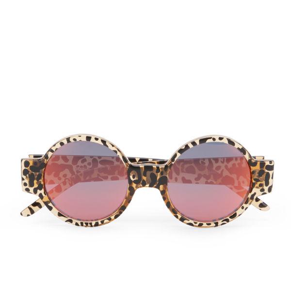 Le Specs Women's Rabbit Hole Cheetah Print Sunglasses - Cheetah
