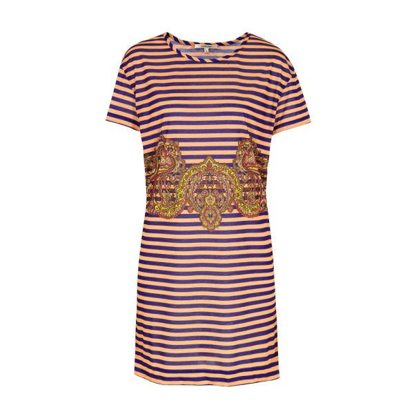Carven Women's 730-R028 Stripey Jersey Dress - Ink