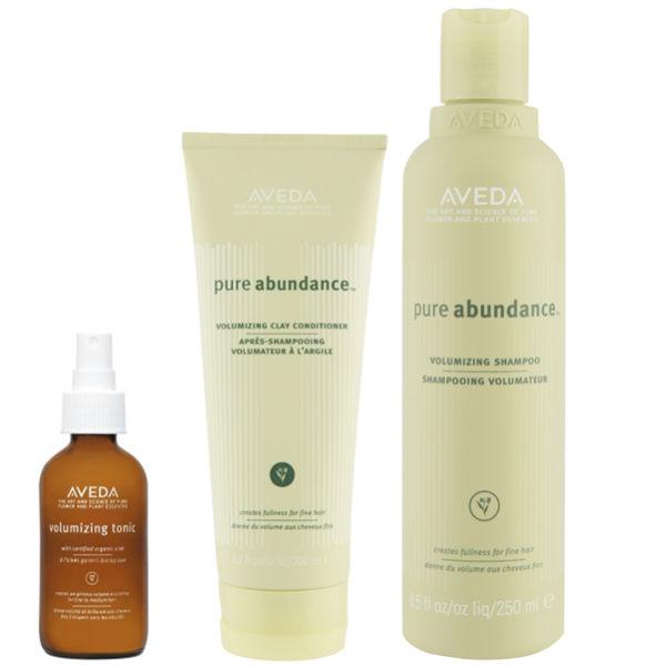 Aveda Volumen Haarpflege TrioPure Abundance Shampoo, Conditioner & Purescription Volumising Tonic
