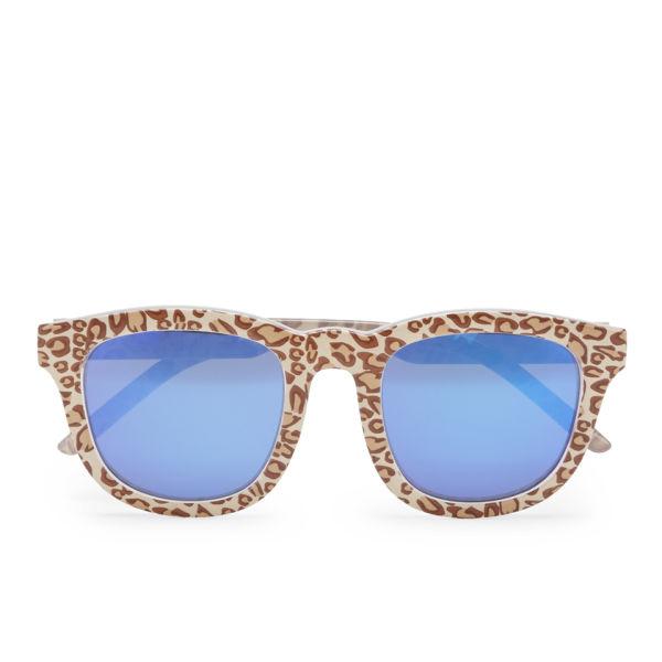 Le Specs Women's Noddy Cheetah Sunglasses - Cheetah