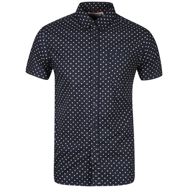 Brave soul men 39 s gallagherc short sleeve polka dot shirt for Mens polka dot shirt short sleeve