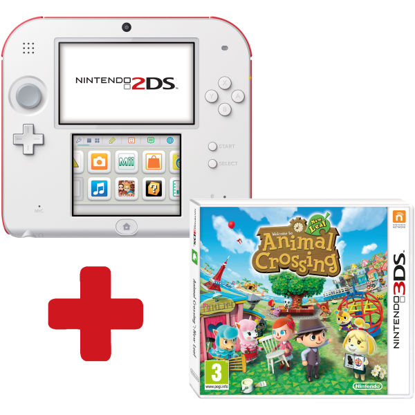 Nintendo 2ds white red console bundle includes animal - Animal crossing new leaf consoles ...