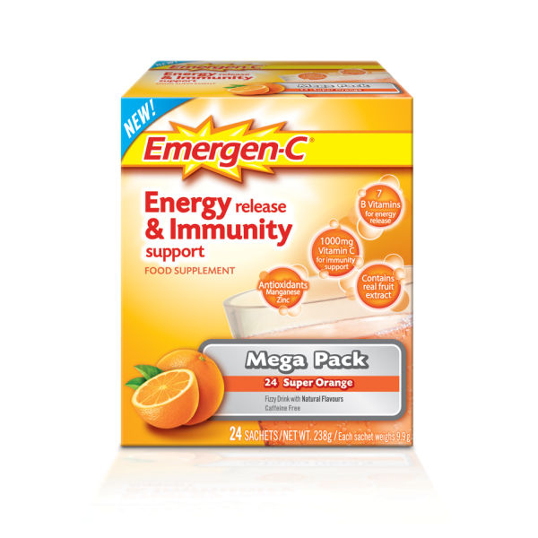 Emergen-C Orange Pack (Mega Pack 24 Servings)