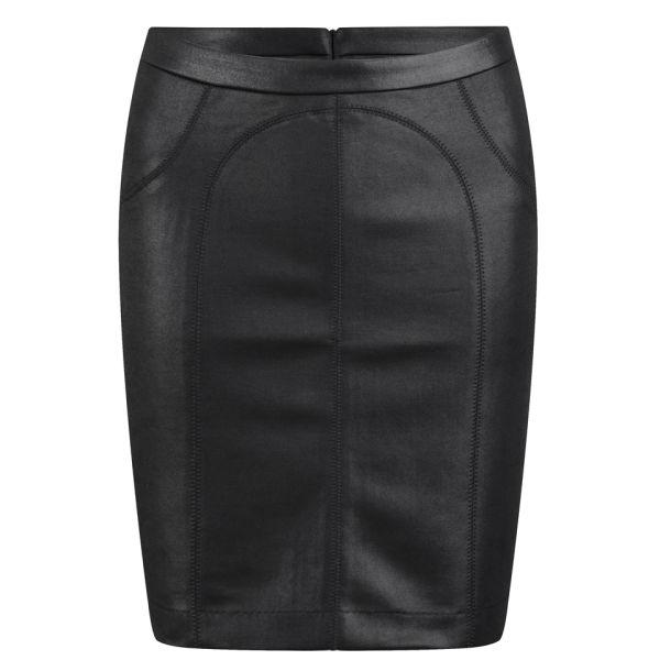 T by Alexander Wang Women's Scuba Pencil Skirt - Black