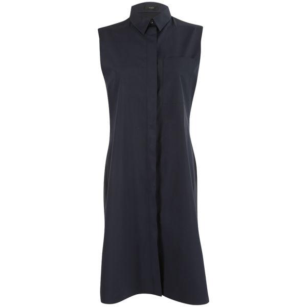 Joseph Women's Poplin and Georgette Richards Dress - Navy