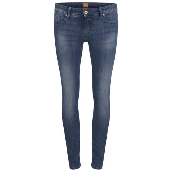 BOSS Orange Women's Lunja Low Rise Jeans - Bright Blue