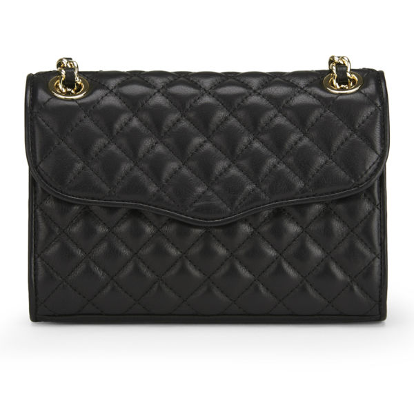 Rebecca Minkoff Women's Quilted Mini Affair Leather Cross Body Bag - Black with Rose Gold Hardware