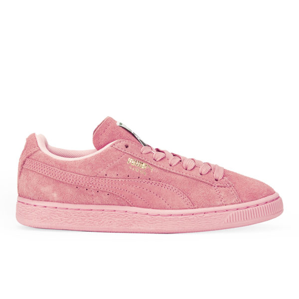 puma pink suede trainers shoes
