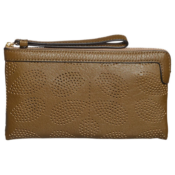 Orla Kiely Women's Sixties Stem Punched Flat Zip Purse - Olive