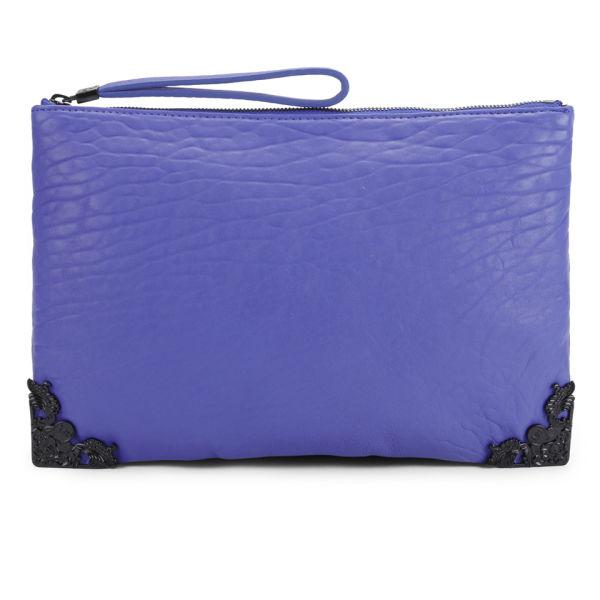 McQ Alexander McQueen Leather Tech Clutch Bag - Cobalt