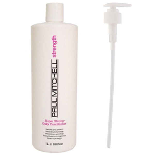 Paul Mitchell Super Strong Daily Conditioner (1000ml) with Pump (Bundle)