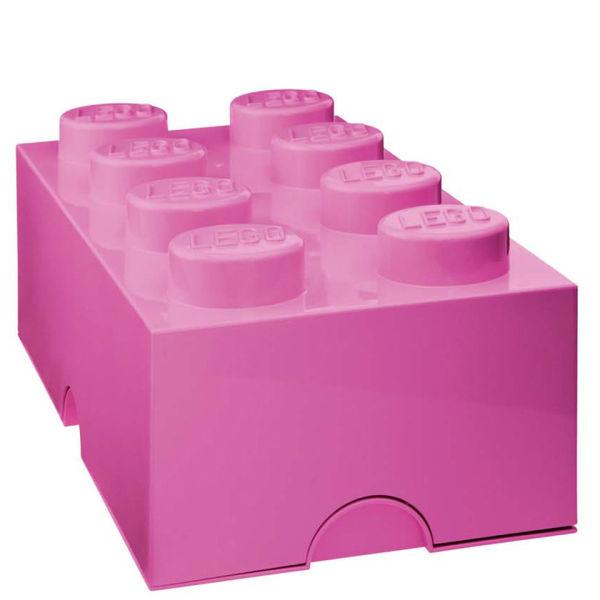 lego storage brick 8 pink. Black Bedroom Furniture Sets. Home Design Ideas
