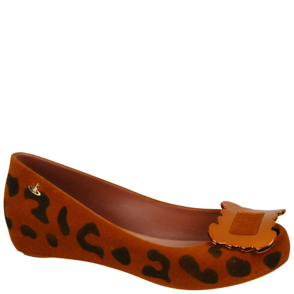 Vivienne Westwood for Melissa Women's Ultragirl Buckle Ballet Pumps - Tan Leopard Flock