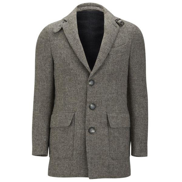 Knutsford Men's Suede Trim New Wool Blazer - Grey