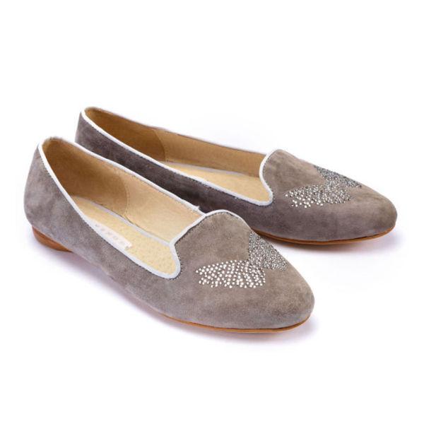 Style Snob Women's Lauren Slipper Shoes - Mud Grey