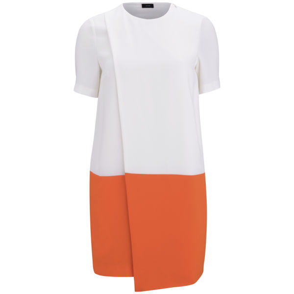 Joseph Women's Staar Crepe Dress - Orange/White
