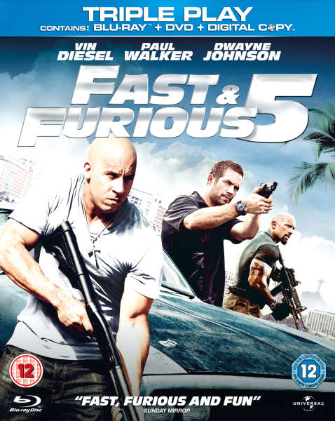 fast and furious 5 triple play blu ray dvd and digital copy blu ray. Black Bedroom Furniture Sets. Home Design Ideas