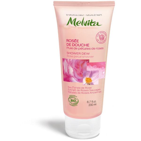 Melvita Taufrisches Duschgel - Rosenblütenregen (200ml)