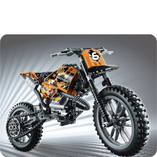 lego technic moto cross bike 42007 toys. Black Bedroom Furniture Sets. Home Design Ideas
