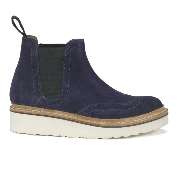 Popular   Dr Martens 2976 Chelsea Boot Womens Ankle Boots Navy Hi Suede WP
