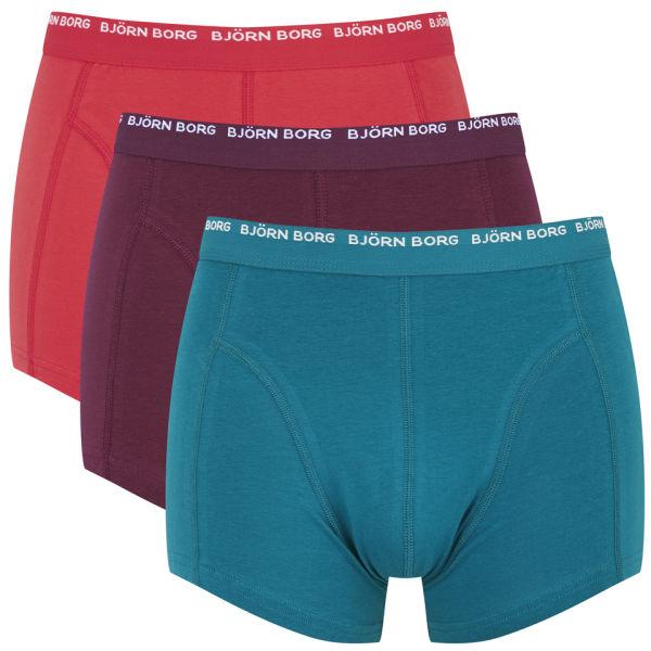 bjorn borg men 39 s 3 pack boxer shorts ocean depths mens underwear. Black Bedroom Furniture Sets. Home Design Ideas