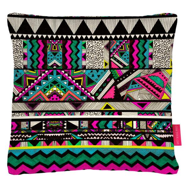 Ohh Deer Fiesta Patterned Cushion