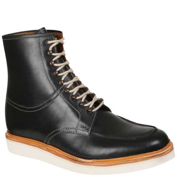 Grenson men s clyde high leg apron boots black free uk delivery