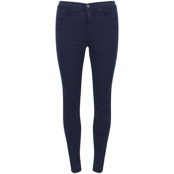 J Brand Women's Maria High Rise Sateen Skinny Jeans - Carbon Blue