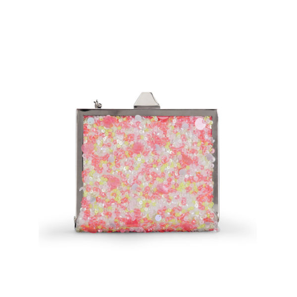 French Connection Women's Chess Sequin Frame Clutch - Sweet Sequin Mix