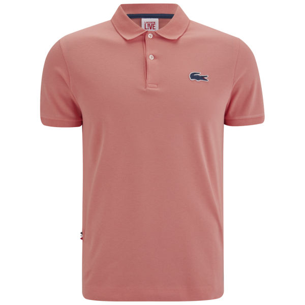 Lacoste live men 39 s polo shirt coral free uk delivery for Coral shirts for guys