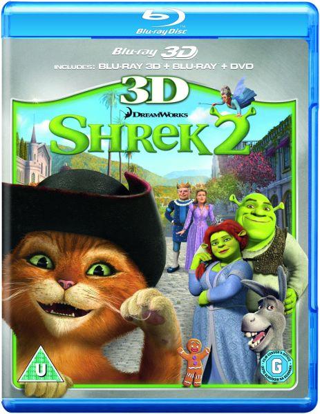 Shrek 2 3D (3D Blu-Ray, 2D Blu-Ray and DVD) Blu-ray | Zavvi.com