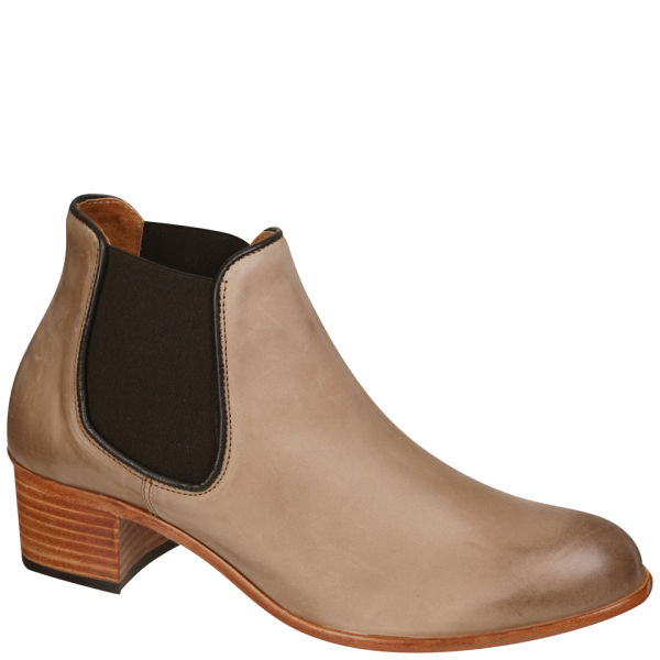 H Shoes by Hudson Women's Bronte Calf Leather Chelsea Boots - Taupe