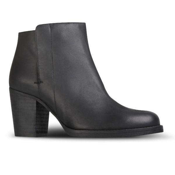 Kurt Geiger Women's Soda Heeled Leather Ankle Boots - Black
