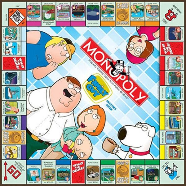 Family Guy Monopoly Toys Thehut Com