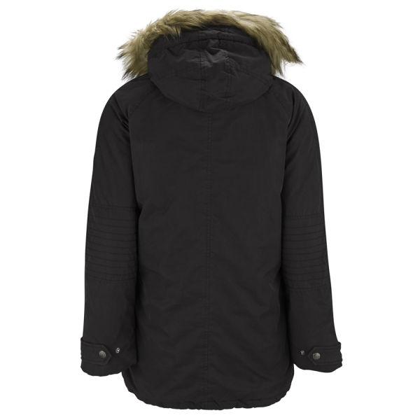 maison scotch women 39 s hooded detachable faux fur parka. Black Bedroom Furniture Sets. Home Design Ideas