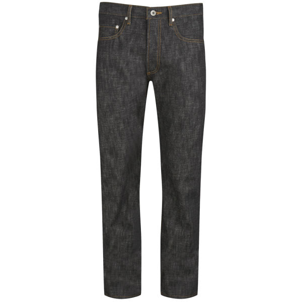 Renhsen x Coggles Men's Japanese Raw Denim Selvedge Louis Jeans - Black