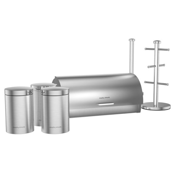 Morphy Richards Towel Pole: Morphy Richards 6 Piece Storage Set - Stainless Steel